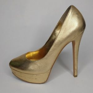 Blake Scott Gold High Heels Size 7 Costume